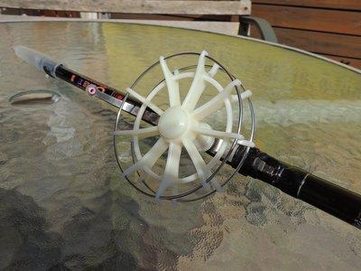 10 CM 白色鋼圈風車輪.八卦輪.牛車輪.筏輪.前打.捲線器