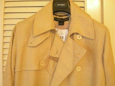 全新Ralph Lauren 駝色長大衣男女生都可以穿唷 (原價$79800)
