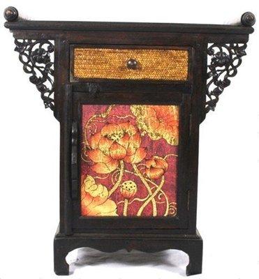INPHIC-東南亞 家居 飾品 泰式飯店 會所 木雕 小傢俱 彩繪櫃子