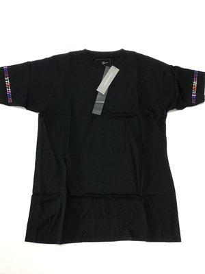 全新正品 Uniform Experiment COLOR CHART SLEEVE TEE 彩色亮片黑色短T (04)