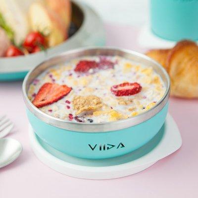 【現貨】QB選物 ❤ VIIDA ❤ Soufflé  抗菌不鏽鋼餐碗-湖水綠