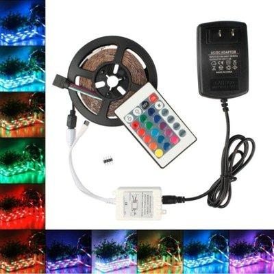 (24鍵)5米防水燈條【NT001】七彩多顏色可變換 可遙控 露營燈條 節慶燈條 led300燈
