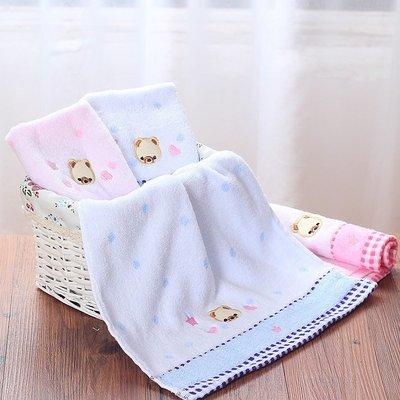 加厚純棉洗臉毛巾 柔軟吸水全棉寶寶面巾親膚透氣兒童小毛巾方巾