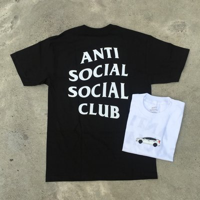 ☆LimeLight☆ Anti Social Social Club Yo Car Tee 黑/白 車車 S - XL