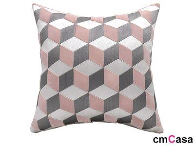 = cmCasa = [5707]現代立體視覺設計  Inception荷蘭絨抱枕套 後現代新發行