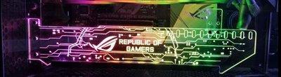 萊特 電腦精品 顯卡壓克力支架 最新款幻彩 RGB 適合 GTX 1080 海盜 ROG MSI 電競 水冷 nxzt