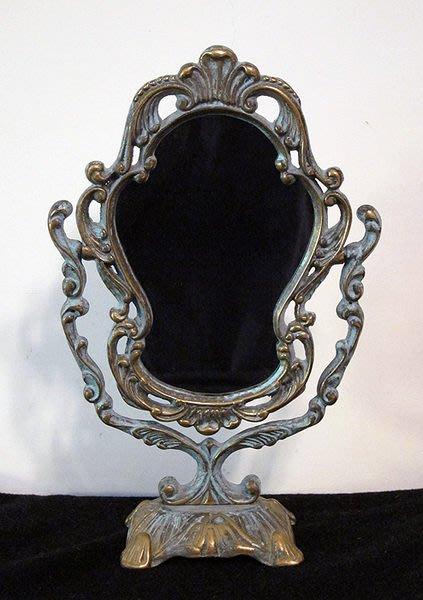 梳妝鏡桌鏡銅器法國巴洛克風格類【心生活美學】