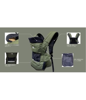 【S.I. 日本代購】預購 THE NORTH FACE Baby Compact CARRIER嬰兒背巾