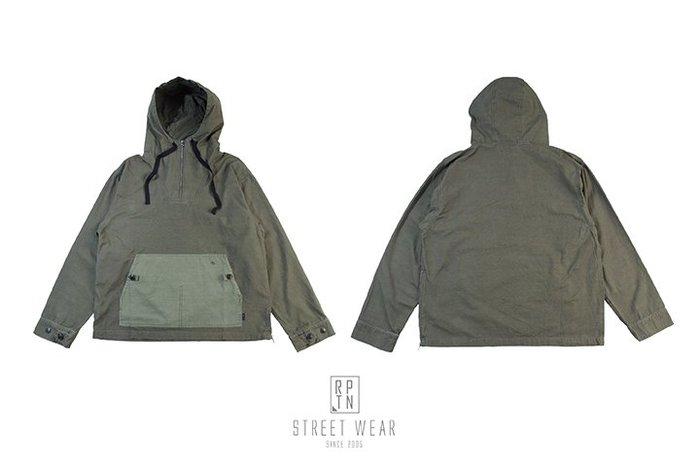 REPUTATION COMBO Ripstop / D - PULLOVER JACKET .FW - 套頭式拼接外套
