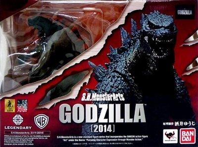 日本正版 萬代 S.H.MonsterArts SHM 哥吉拉 2014 模型 公仔  日本代購