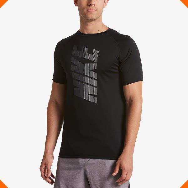 【鞋印良品】NIKE DRI-FIT速乾科技 SOLID 短袖防曬T恤 NESS9539-001 黑 40+抗UV材質