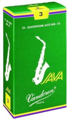 ∮愛友樂器∮Vandoren【Java Green Alto Reeds 薩克斯風 中音 綠盒 竹片】2.5號下標區