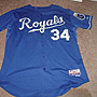 MLB Kansas City Royals 皇家隊 # 34 Luke Hudson GAME USED JERSEY