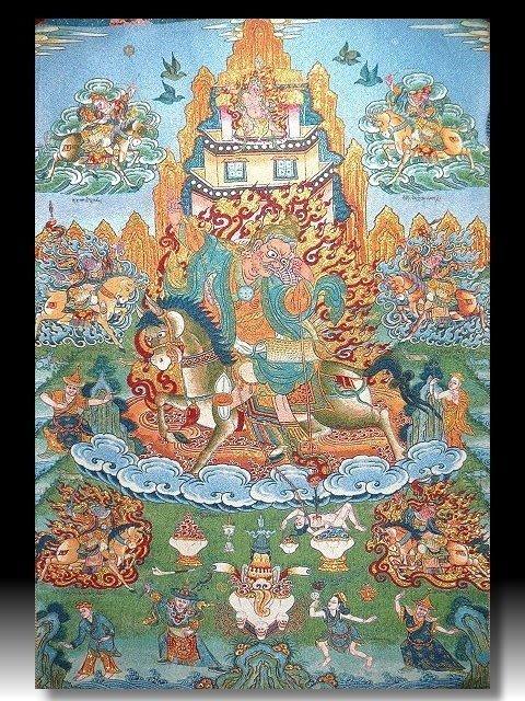 【 金王記拍寶網 】S873 中國西藏藏密佛像刺繡唐卡 刺繡 (大)一張 完美罕見~