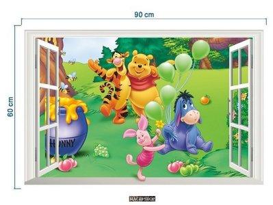 【現貨】日韓流行3D立體維尼熊牆貼 居家佈置可移除及重覆使用壁貼 (此款只能郵寄掛號) [ MACHI SHOP ]