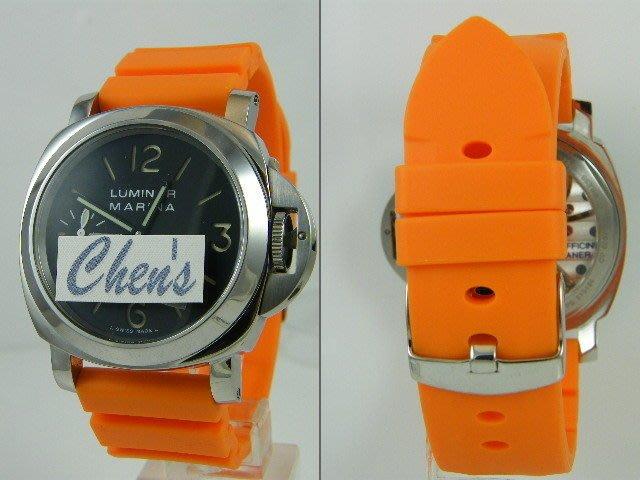 錶帶屋 高級矽膠錶帶24mm有效替代同規格panerai IWC及各品牌潛水 運動手錶 現貨商品