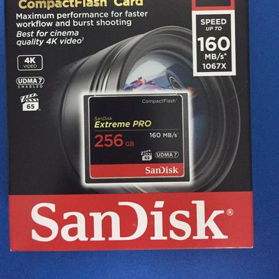 SanDisk CF Extreme Pro 256GB SDCFXPS-256G-X46