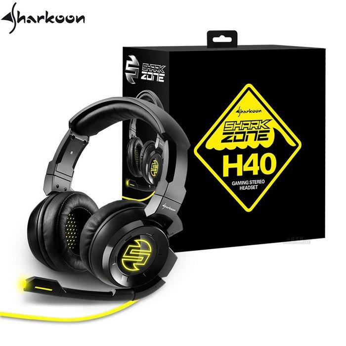 【一統電競】旋剛 Sharkoon 狂風者 SHARK ZONE H40 耳機麥克風