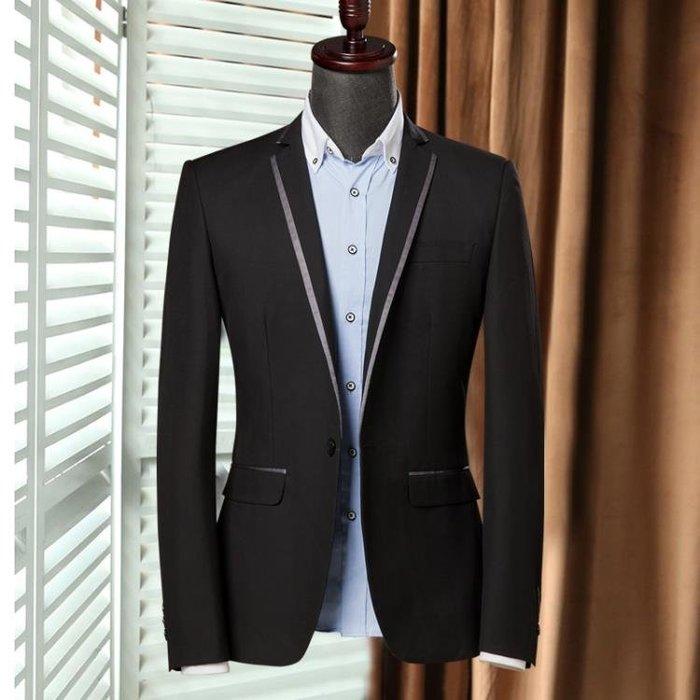 春季小西裝男上衣休閒韓版修身商務青年西服男士單西外套