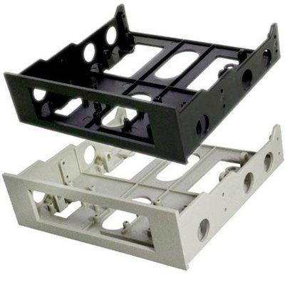 【小楊電腦 】3.5吋轉5.25吋轉接架(框) 空間轉換大師 -塑膠製(剩下黑)