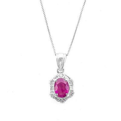 【JHT 金宏總珠寶/GIA鑽石專賣】1.46ct天然紅寶鑽墜/材質:PT900(JB21-B30)