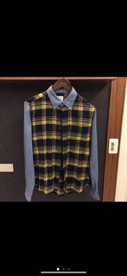 Uniform experience 拼接襯衫 2號