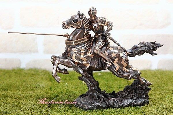 點點蘑菇屋{中古武士擺飾}鐵甲武士 皇家鐵騎兵 /叢林飛奔 中古世紀羅馬武士 盔甲武士 精緻仿銅飾品 現貨 免運