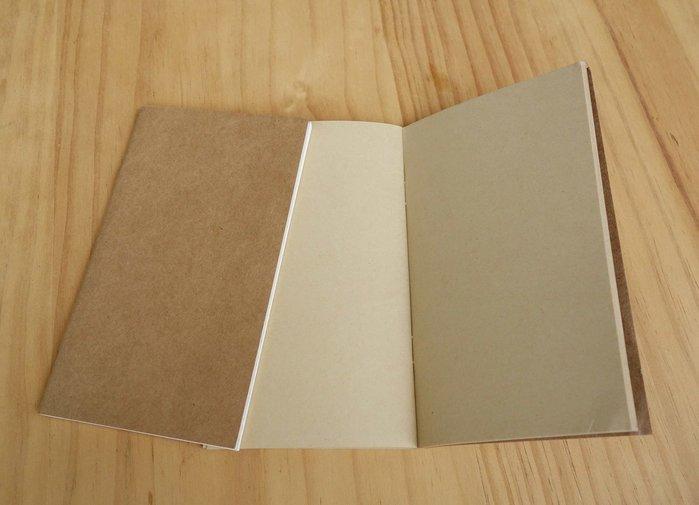 牛皮色 空白本 #日記本 #筆記本 #記事本 內芯 16*10CM 繪本 #DIY材料 #notebook