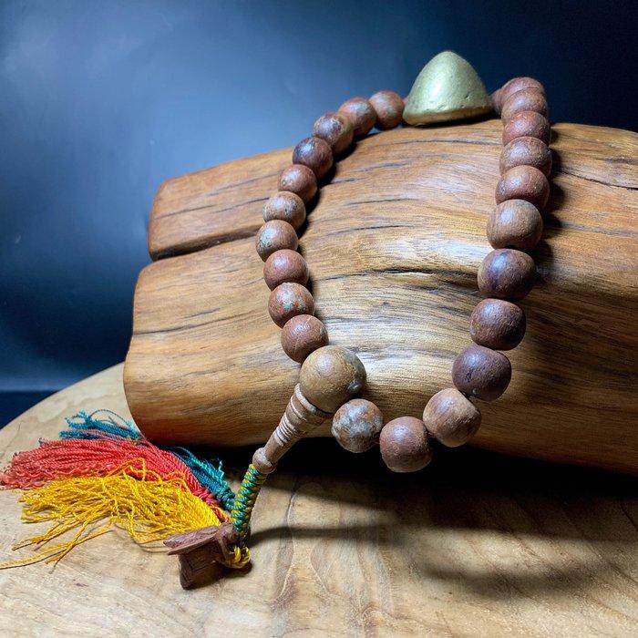 緬甸老件 冠蘭聖物 紫檀念珠 大黃蜂 27子 平安祈福 逢凶化吉