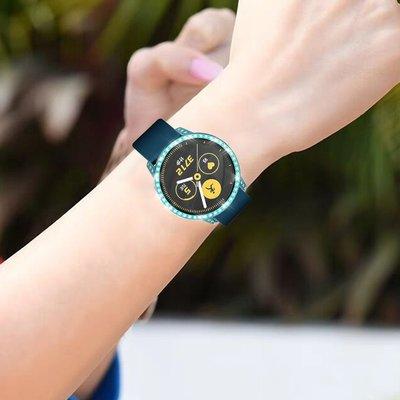 適配三星Galaxy Watch Active手表保護殼S4PC電鍍單排水鉆保護套--朵朵云