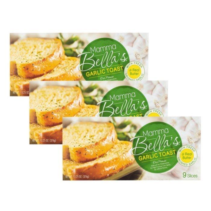 (漾霓)-代購~6盒優惠~Mamma Bella 冷凍蒜味麵包(每盒376公克*9片)-71978 (代購商品下標詢問