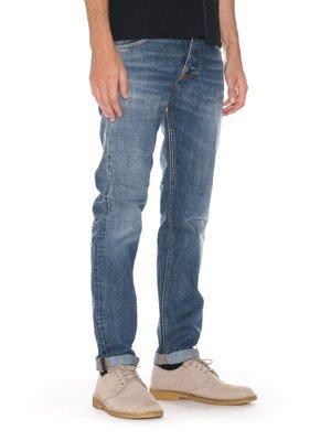 (預購商品) NUDIE STEADY EDDIE CRISPY CRUMBLE 藍色 刷白 合身 義製 單寧 牛仔褲