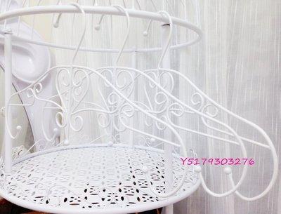 大量  歐式 法式 古典風 夢幻甜美 心形 愛心型 鐵藝 白色 衣架 展示架 女裝店 服飾店 衣架 可