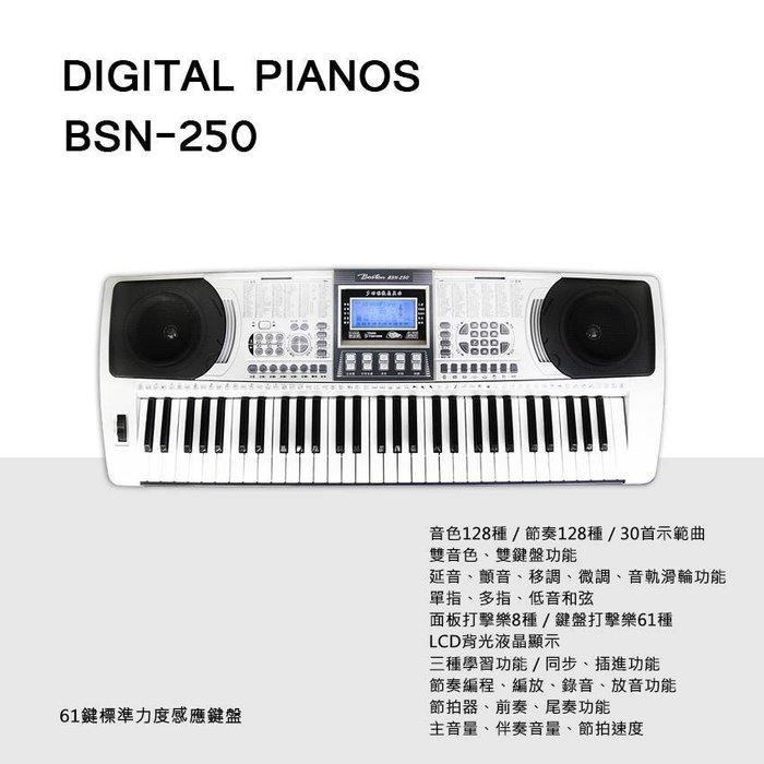 【本月最超值】 最新美國波士頓 BOSTON BSN-250   標準61鍵電子琴音色佳-入門最平價優選)