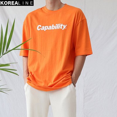 KOREALINE搖滾星球 / CAPABILITY印刷短T / 6色 / HNT5828