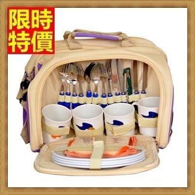 野餐包 2人餐具組 肩背手提包-超大神祕紫色防水內層多人出遊必備野餐包 68ag48[獨家進口][米蘭精品]
