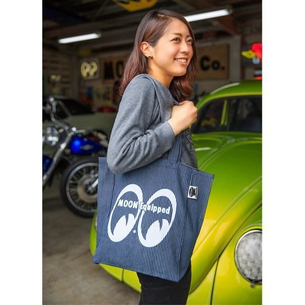 (I LOVE樂多)MOON Equipped Tote Bag側肩條紋包