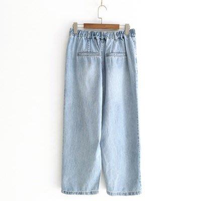 牛仔 褲 闊腿 長褲-破洞水洗街頭時尚女褲子73tq6[獨家進口][米蘭精品]