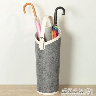 放雨傘的桶皮革歐式家用 球桿球拍畫軸收納創意 插花筒  WD    全館免運