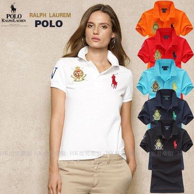 Polo  大馬金標 短袖T恤女翻領大碼寬松純棉保羅Polo衫 免運