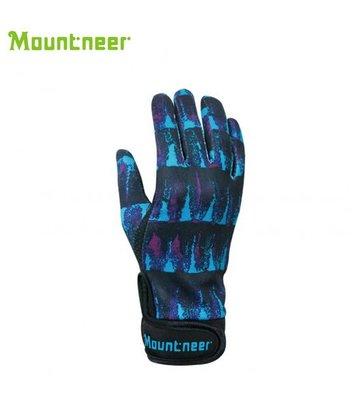 丹大戶外【Mountneer】山林休閒 抗UV印花觸控手套 11G05-89 紫色