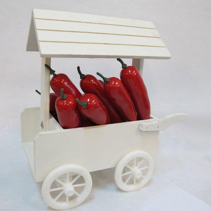 【樂提小舖】03035.12入辣椒 仿真水果模型 人造蔬菜 假辣椒 裝飾辣椒模型 紅辣椒 餐廳佈置 zakka手作雜貨