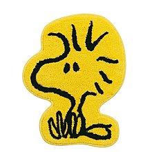 (現貨)丙烯酸 編織物 約60x46cm 防滑 地氈 全身形設計 Peanuts Woodstock 活士托 日本直送 全新品