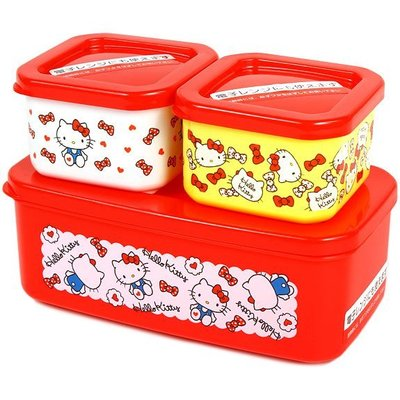 ~河馬家族~日本帶回_Hello KITTY環保收納盒3入盒☆現貨