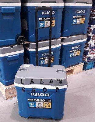 美國製 IGLOO 28公升滾輪冰桶 COSTCO好市多代購