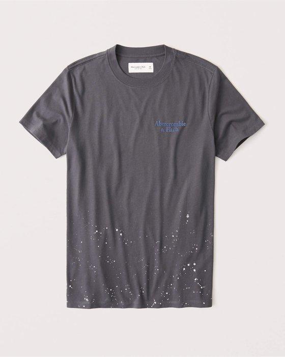 ☆【A&F男生館】【Abercrombie&Fitch絨布印圖短袖T恤】【AF009D1】(S-M-L-XL)11/16