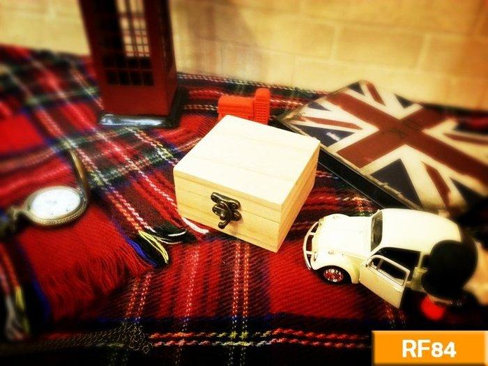 【現貨】實木方形小首飾盒 禮品盒 (原木色) RF84 木盒 首飾盒 工業風 北歐 LOFT 復古 美式