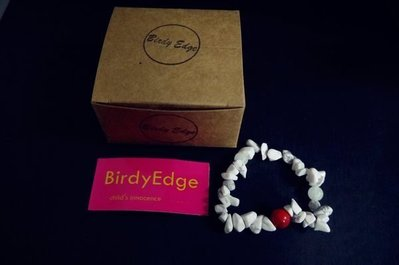 【Birdy Edge】白松石 紅 經典款 手環