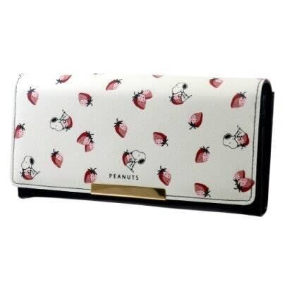 【莓莓小舖】正版 ♥ Peanuts SNOOPY 史奴比 史努比 長夾 皮夾 草莓系列