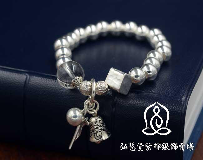 【弘慧堂】 銀珠銀十字架苦像手鏈 天主教聖物 耶穌基督 聖母瑪利亞